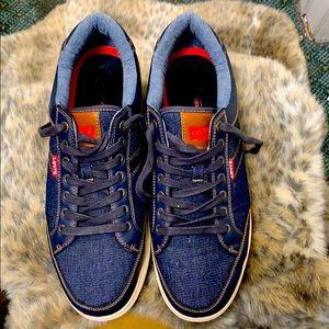 Levi's denim canvas blue jeans sneakers 13